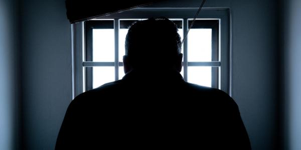Backlit jail photo