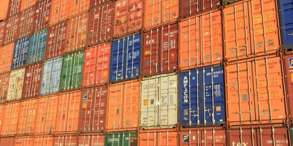 Stock photo of cargo containers