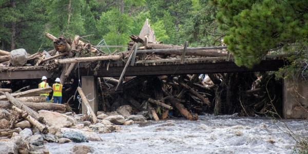 The aftermath of 2021 floods in Poudre Canyon.
