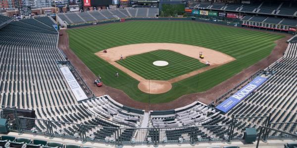 Stock photo of Coors Field in Denver.