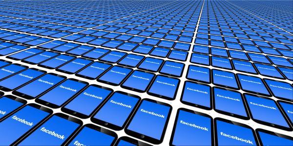 Facebook loaded on phones