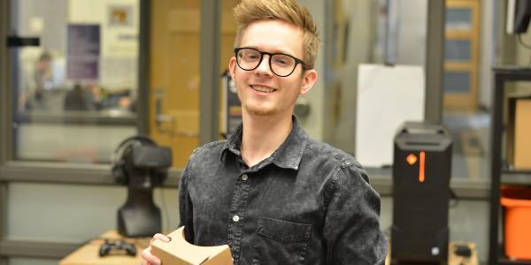 ATLAS graduate student Ian Smith