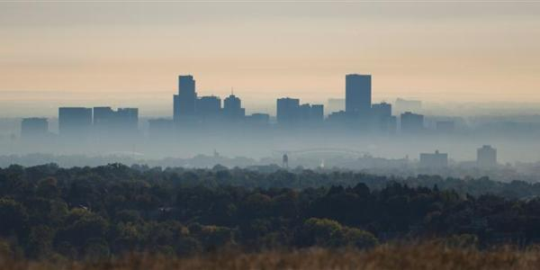 Smog, also known as ground level ozone, shown here in Denver, is a growing problem in the western United States. Credit: National Renewable Energy Laboratory