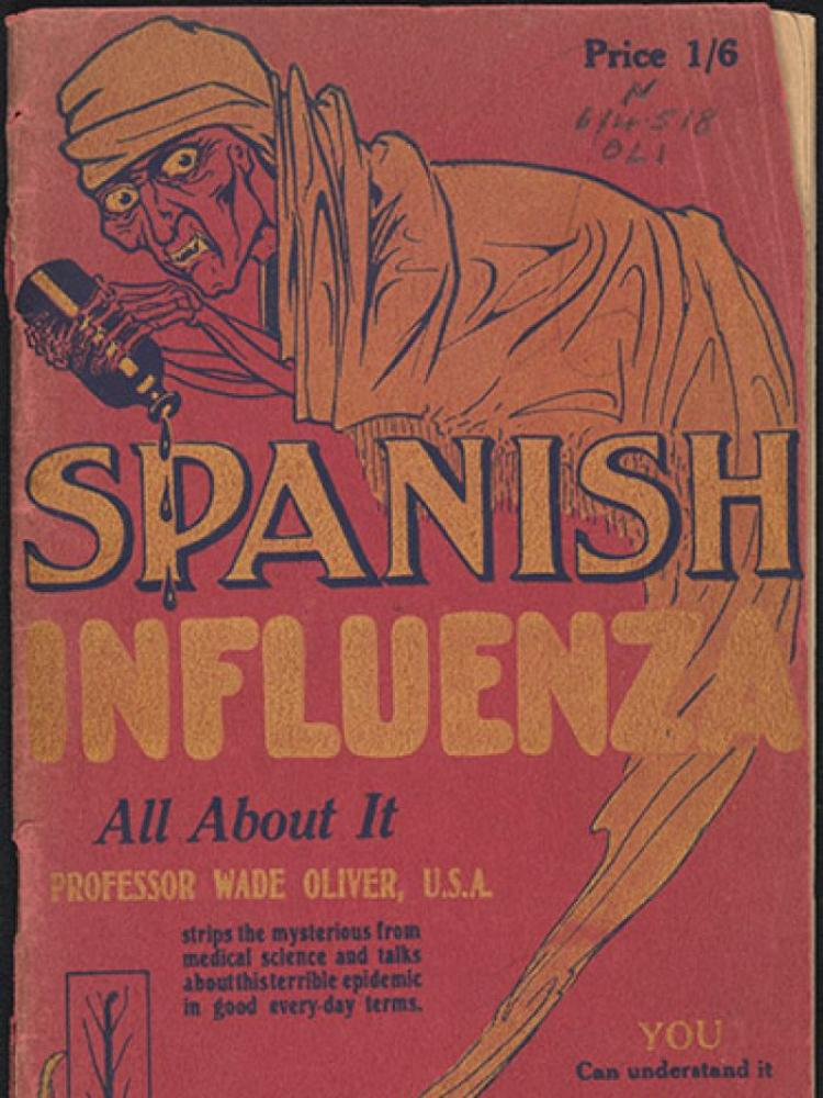 A poster of the 'Spanish Flu' from 1918