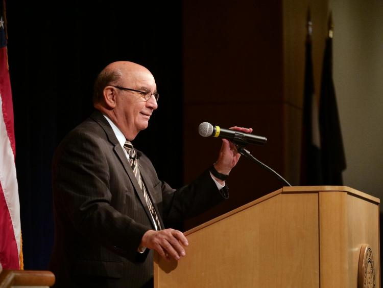 Chancellor Philip P. DiStefano speaks at the annual State of the Campus