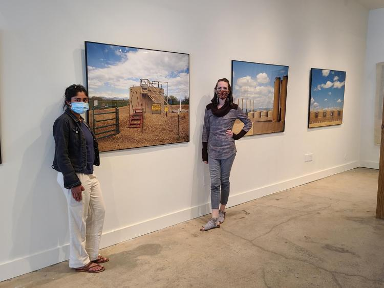 Denise Fernandes and Shelby McAuliffe in their exhibit