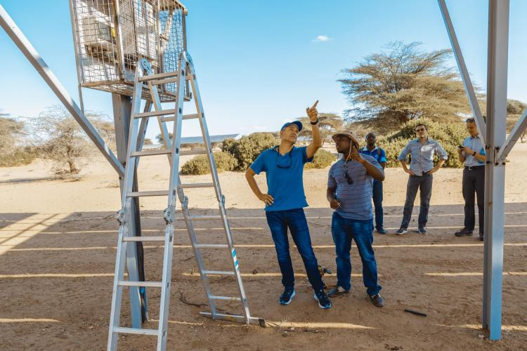 CU Boulder faculty inspecting groundwater sources in northern Kenya