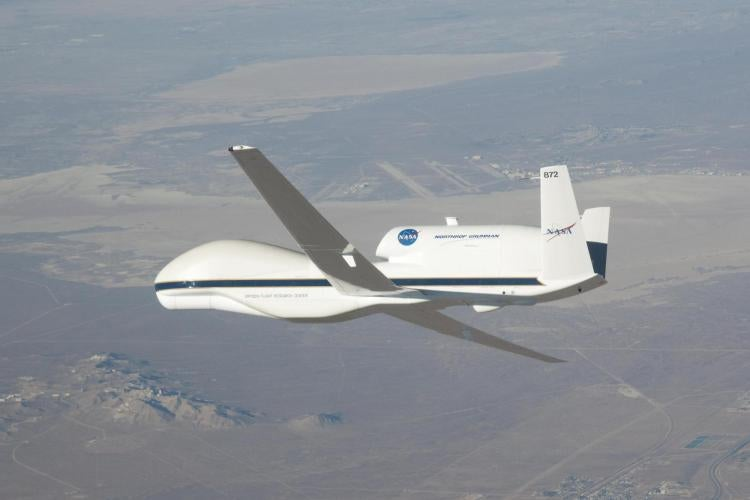 NASA's Global Hawk aircraft in flight.