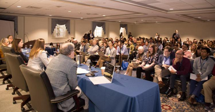 Participants at the science writers conference in 2019