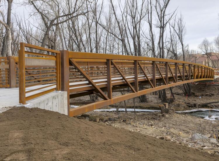 The new East Campus pedestrian bridge