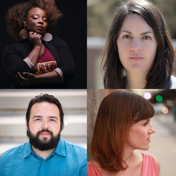 Four artists' headshots