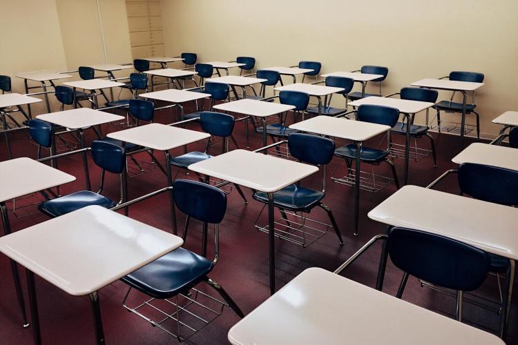 Stock photo of classroom.
