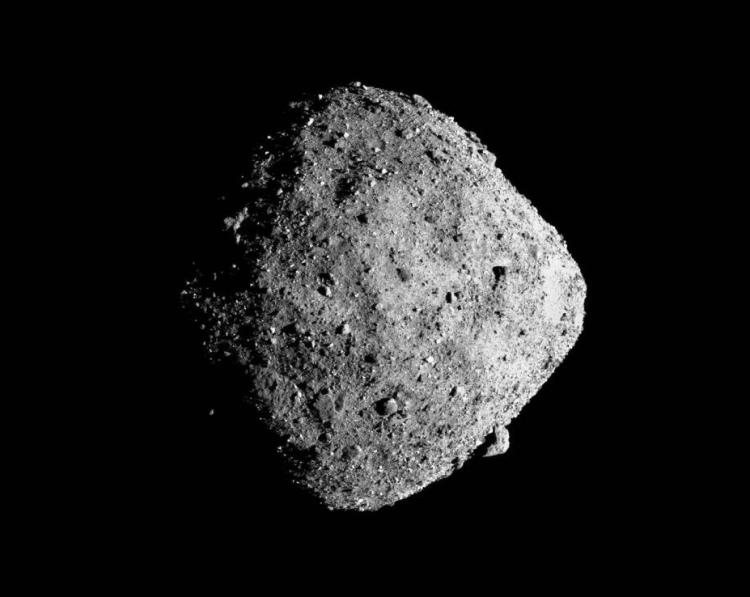 Spacecraft image of the asteroid Bennu