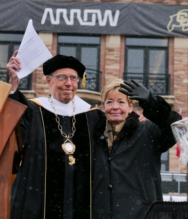 Bruce, left, and Marcy Benson (Photo by Casey A. Cass/University of Colorado)