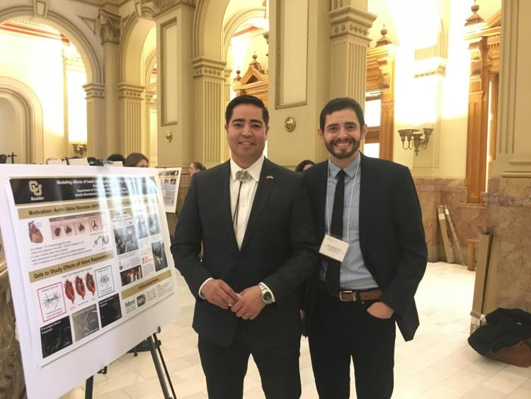 Brian Aguado and Representative Valdez