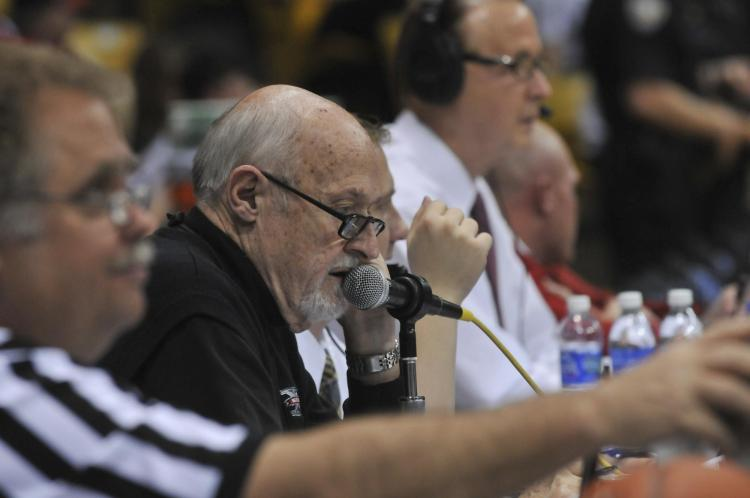 Alan Cass announces CU basketball game