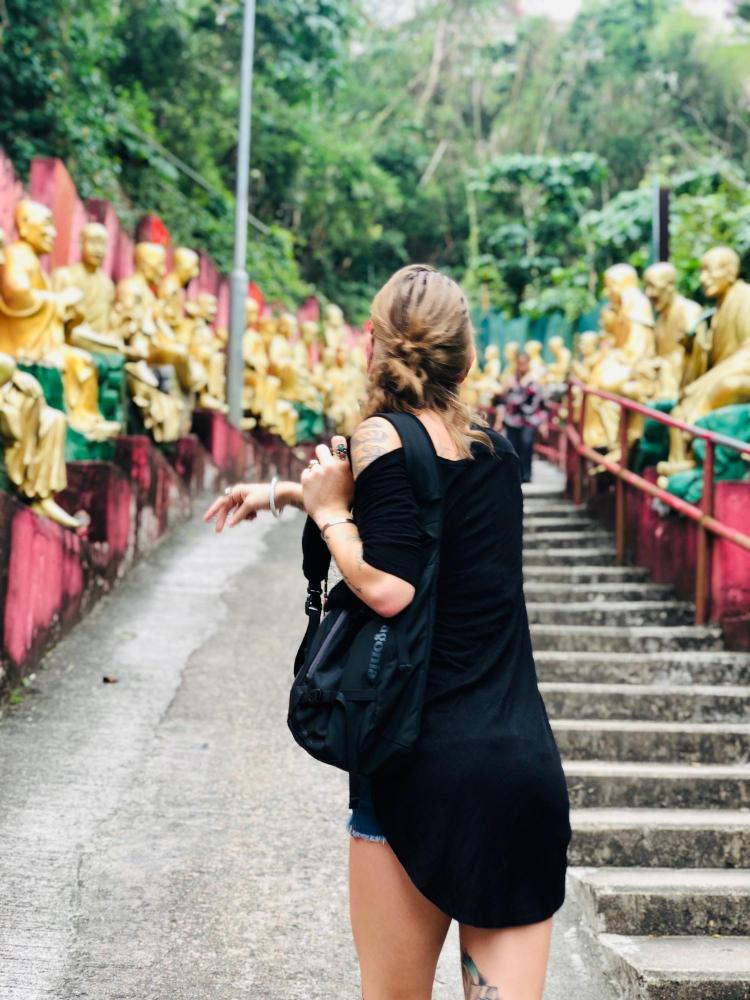 Student explores City of Ten Thousand Buddhas in Hong Kong