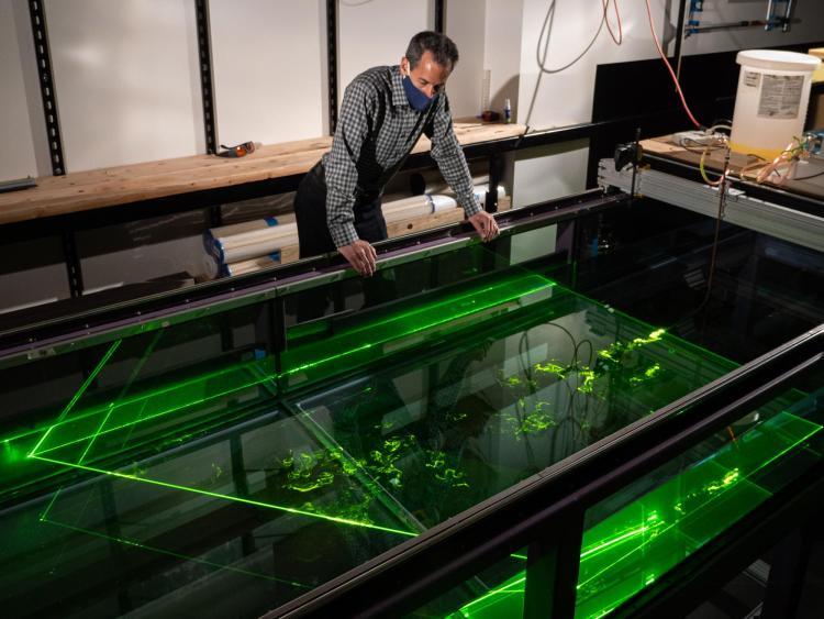 John Crimaldi in his lab