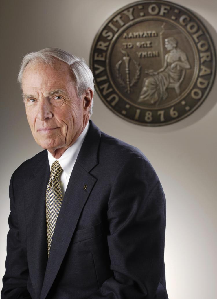 CU President Bruce D. Benson.