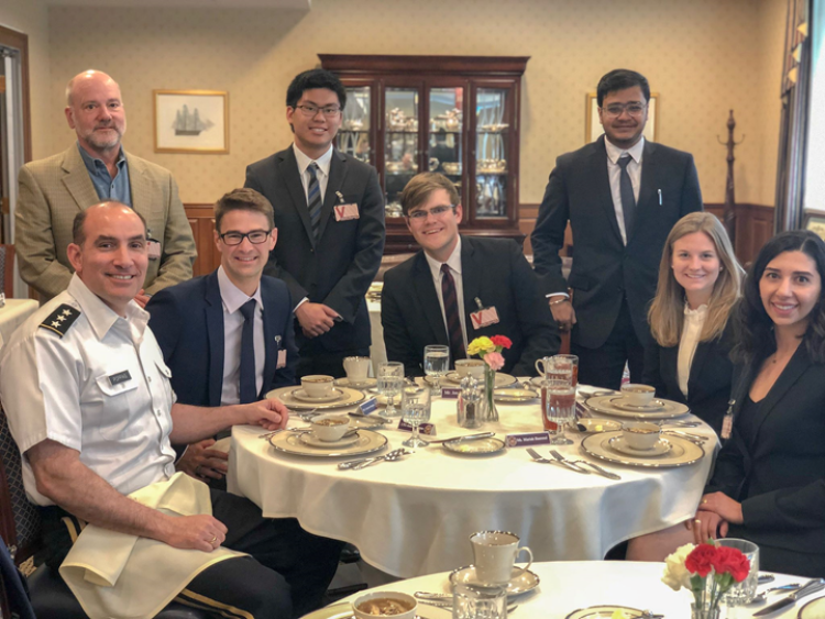 Students meet with leaders at the Pentagon