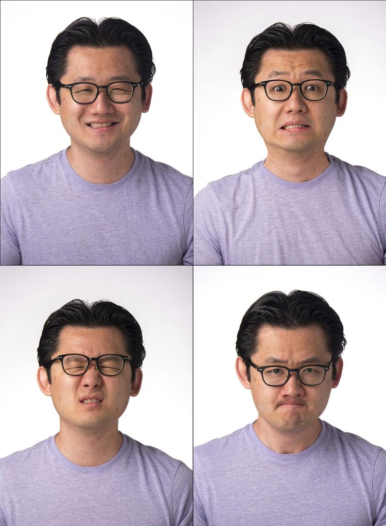 Dan Lee making faces