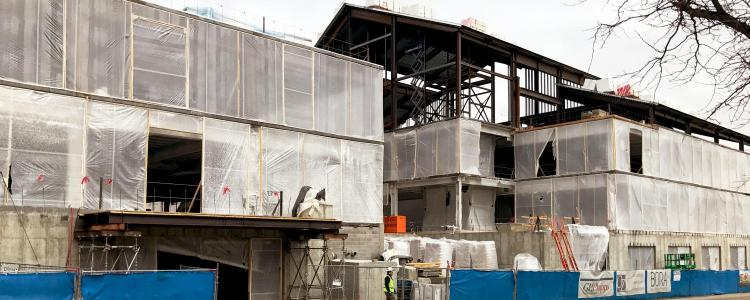 Construction site of new CASA building at CU Boulder