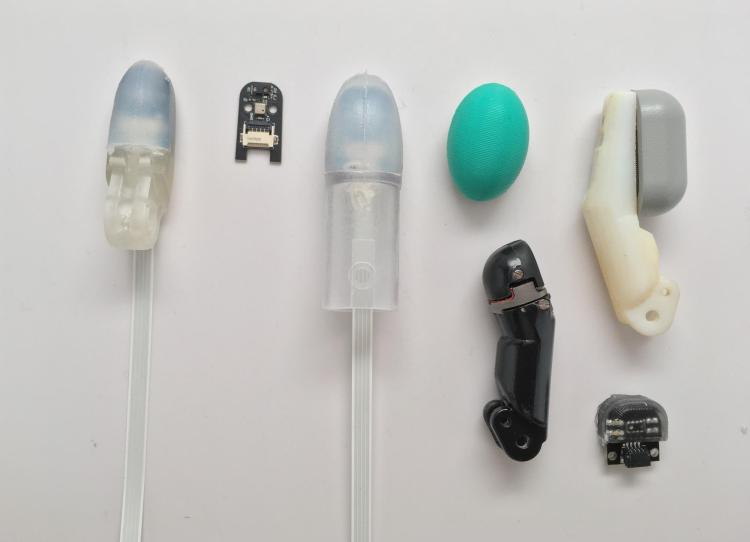 A display of fingertip sensors