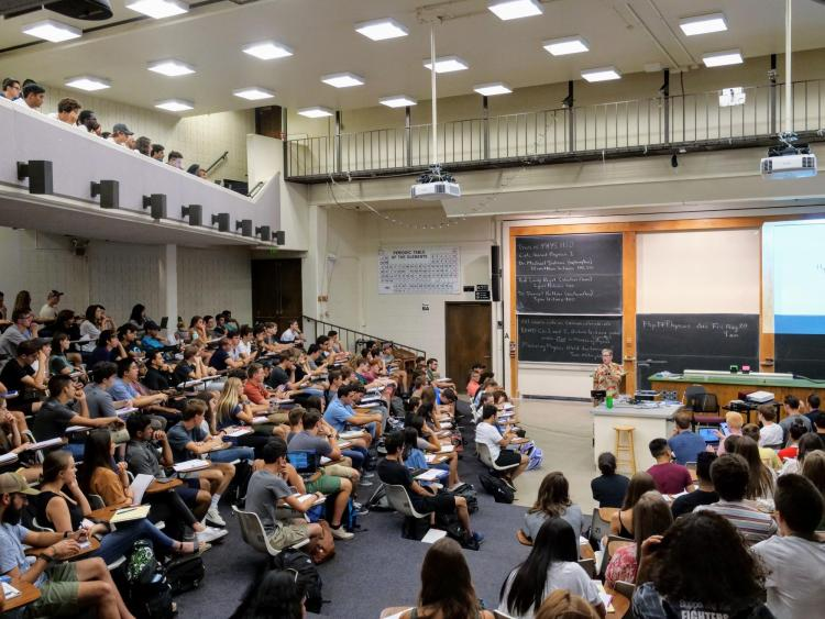 CU Boulder classroom