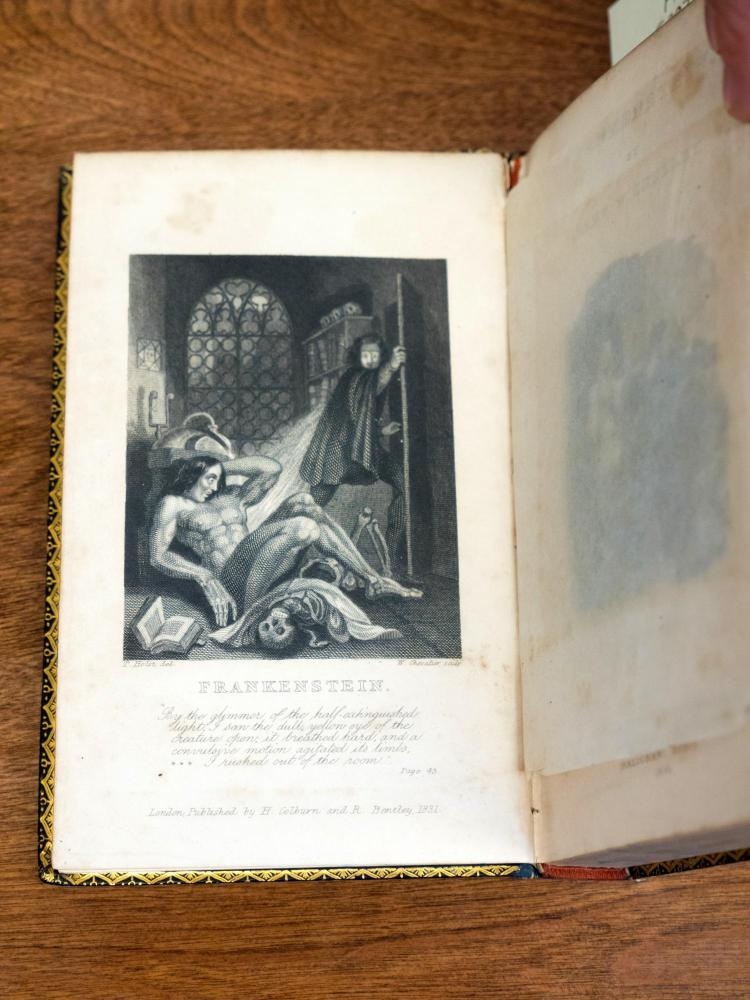 Photo of Frankenstein in Mary Shelley's book