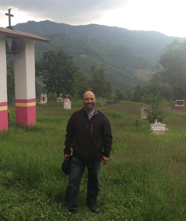 Gerardo Gutierrez in a cemetery
