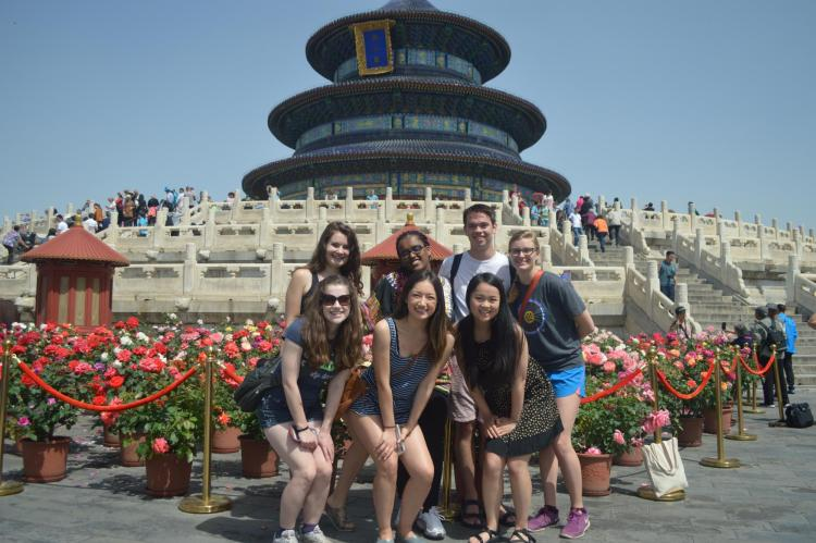 Students studying abroad in Beijing, China