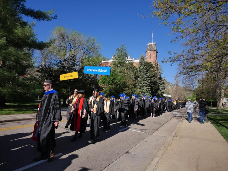 Graduate School procession during commencement
