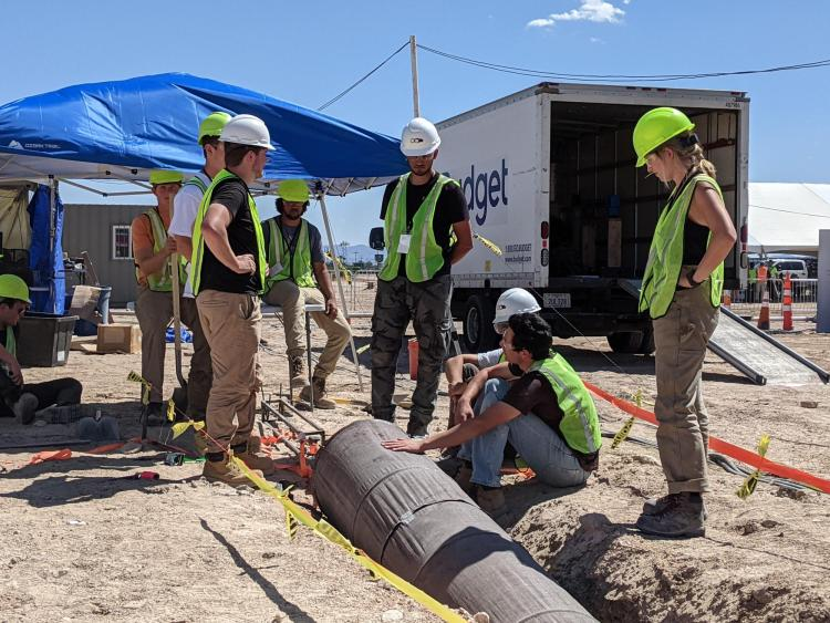 CU Hyperloop members gear up to test out their tunnel support structure