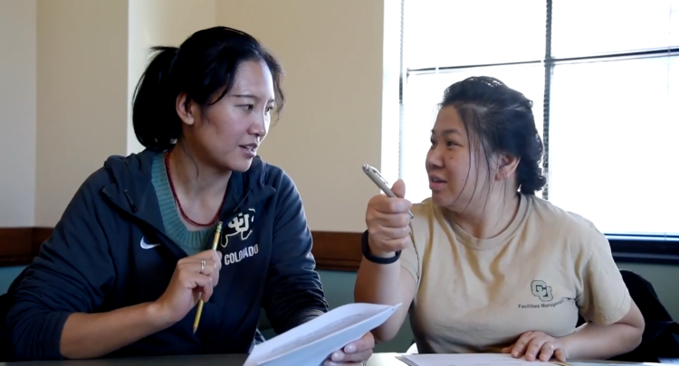 People participate in the Employee English Language Program at CU Boulder