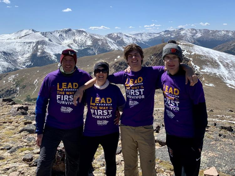 Marin Stanek, center left, with her husband, Matt, far left, and sons Eric and Jake following a climb  near Berthoud Pass on the Continental Divide during the Walk to End Alzheimer's on Sept. 19. (Photo provided)