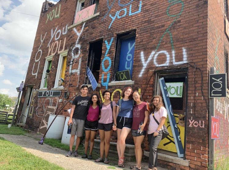 INVST students visit art project in Detroit