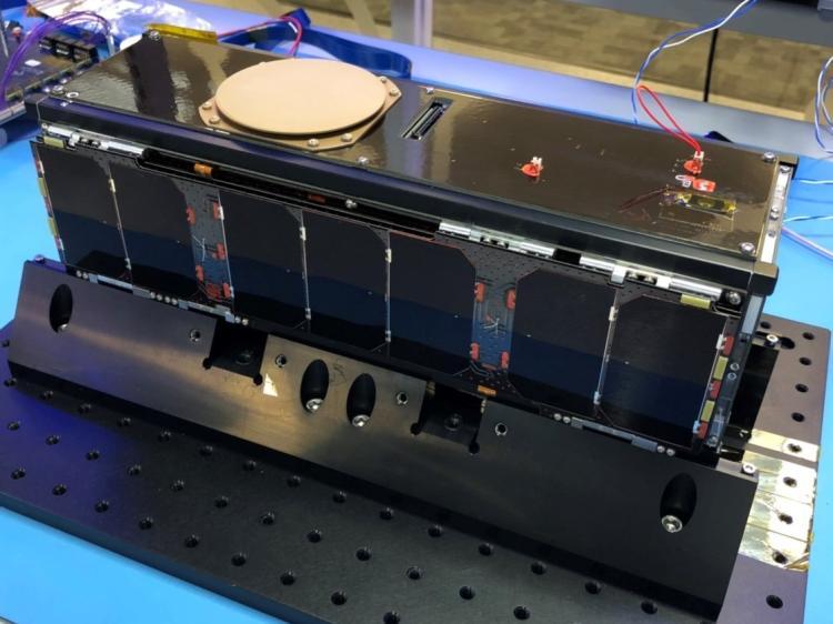 CubeSat sitting on table