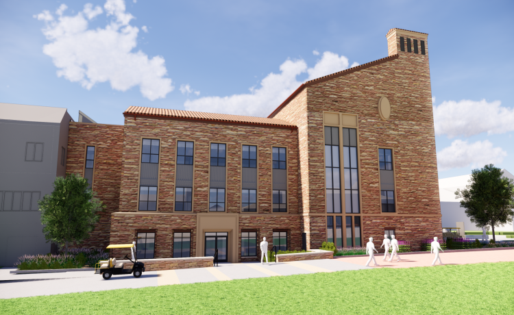 Rendering of addition to the Ramaley Biology Building