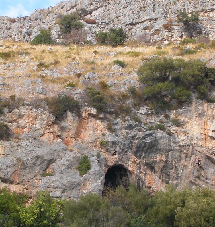 Entrance to the Grotta di Sant'Agostino