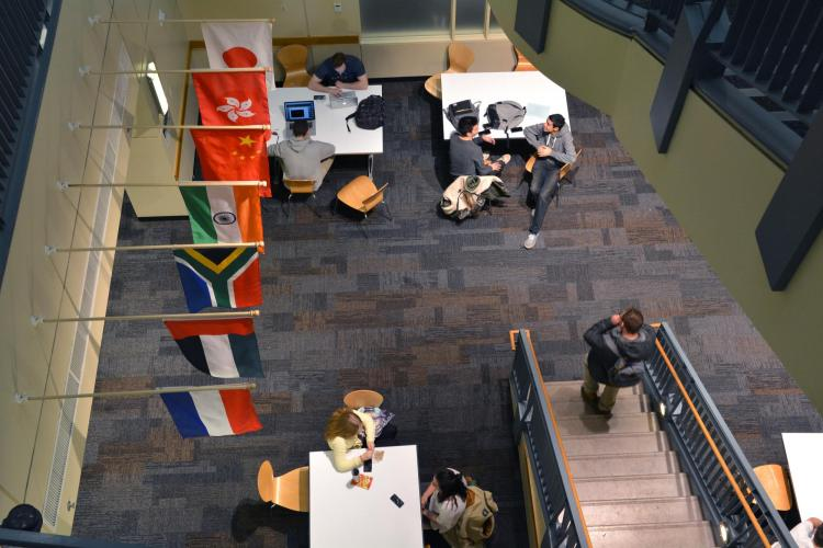 Students studying in the Leeds School of Business