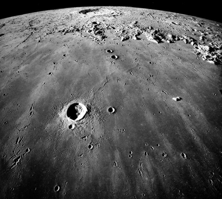 The moon's Mare Imbrium