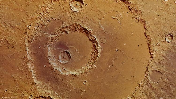 The Hadley Crater on Mars