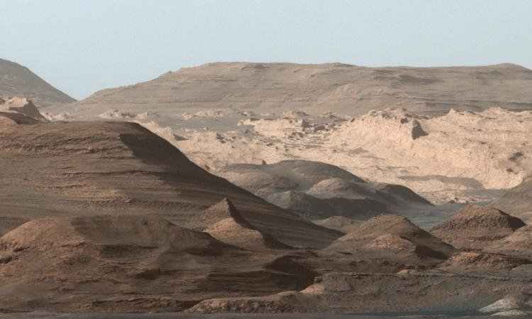 Panorama of Martian mountain