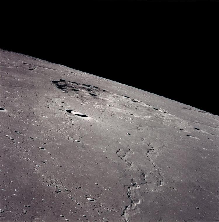 Photo of Mons Rumker as seen in orbit by Apollo 15