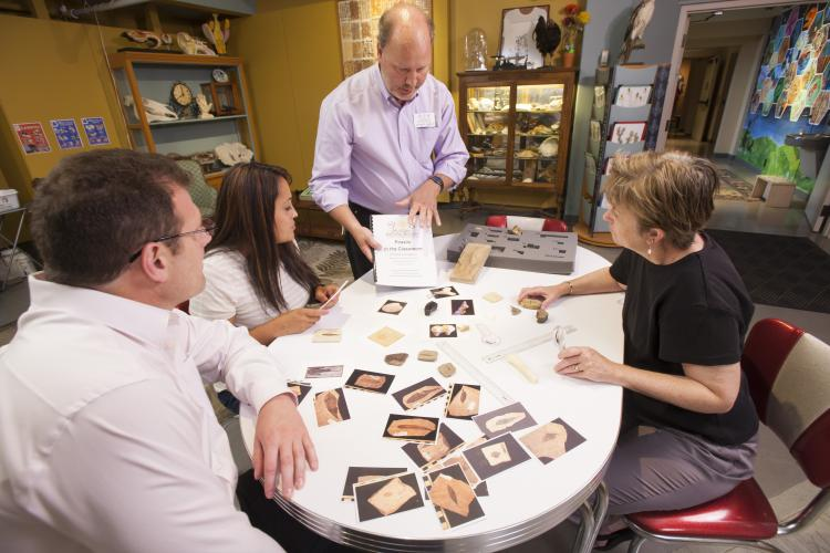 Jim Hakala and colleagues created fossil kits for schools in the state