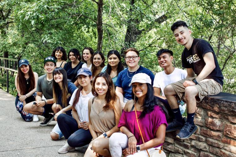 A pre-pandemic group photo of participants in the Public Achievement program.