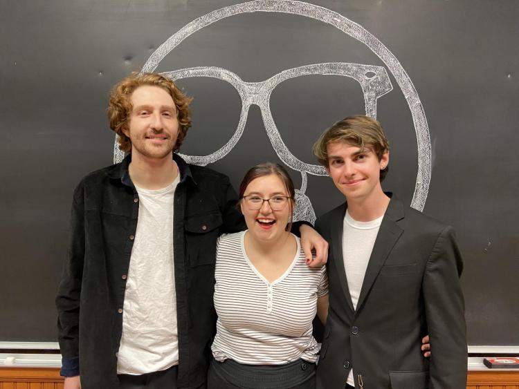 Ryan Brady, Sydnei Lewis and Reese Greiner