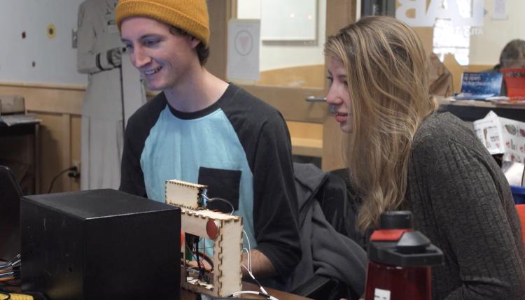 Students work on cracking safe
