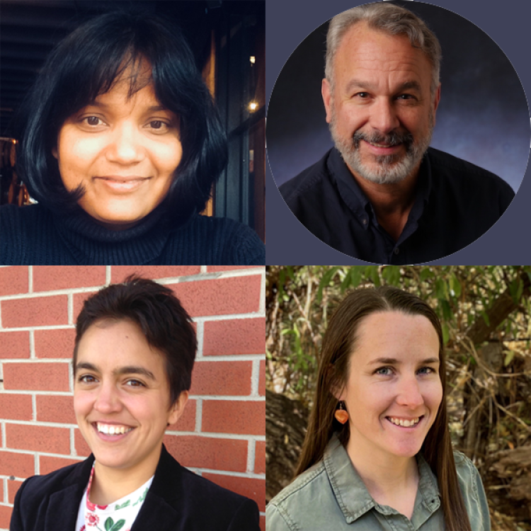 Four scientists headshots