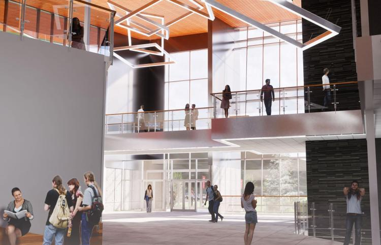 Interior building rendering